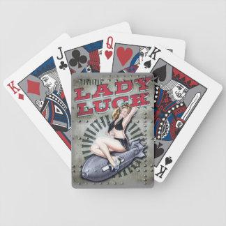 Lady luck WW2 cards