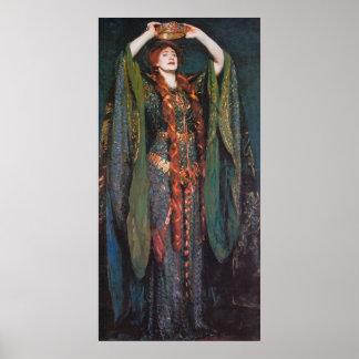 Lady Macbeth, by John Singer Sargent Poster