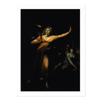Lady Macbeth Sleepwalking, 1783 (oil on canvas) Postcard