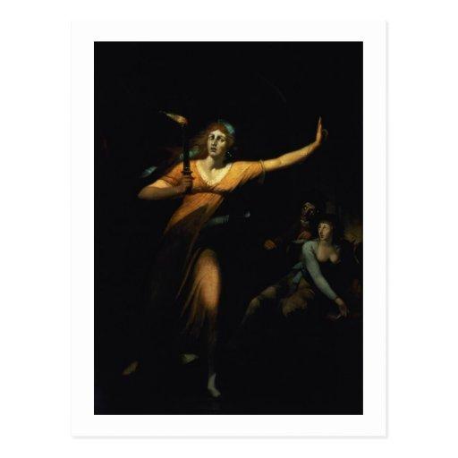 Lady Macbeth Sleepwalking, 1783 (oil on canvas) Post Cards