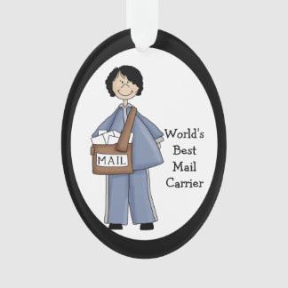 Lady Mail Carrier AcrylicThank You Ornament
