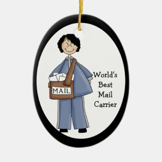 Lady Mail Carrier Thank You Ornament