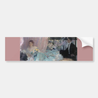 Lady Man Courtship painting Bumper Stickers