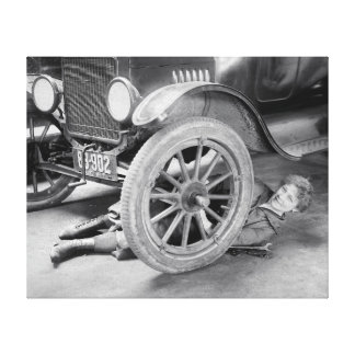 Lady Mechanic 1920 Stretched Canvas Prints
