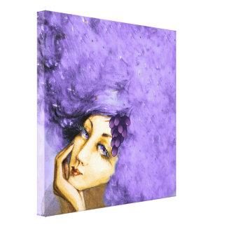 Lady Merlot Canvas Art