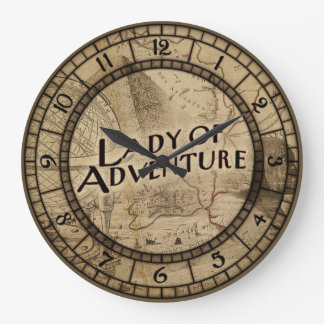 Lady Of Adventure Large Clock