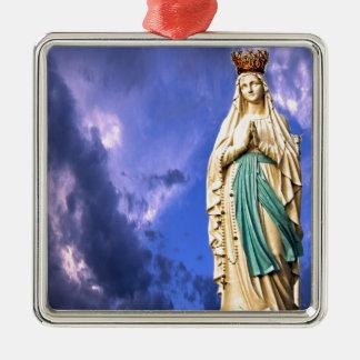 Lady of Lourdes Metal Ornament