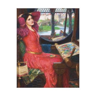 Lady of Shallot by John William Waterhouse Canvas Print
