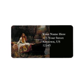 Lady of Shallot by John William Waterhouse Label