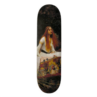 Lady of Shallot by John William Waterhouse Skate Decks