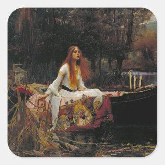 Lady of Shallot by John William Waterhouse Square Sticker