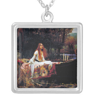 Lady Of Shallot on Boat Waterhouse Art Necklace