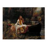 Lady of Shallot Pre-Raphaelite Painting Postcard