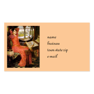 Lady of Shalott  Sitting at Her Desk Business Card Templates