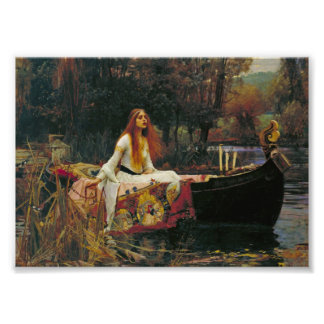Lady of Shalott with Flowing Hair Art Photo
