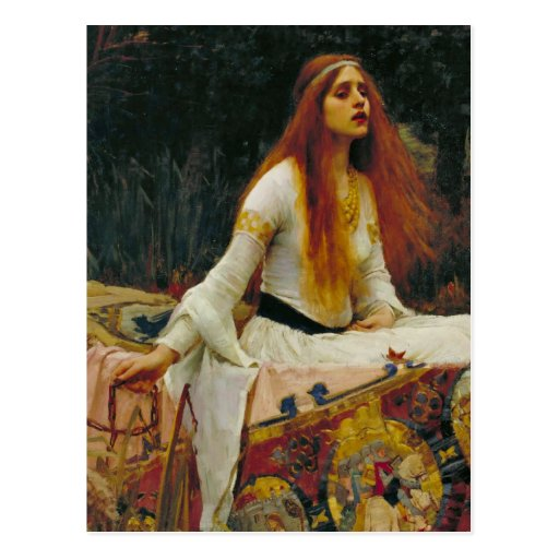 Lady of Shalott with Flowing Hair Post Card