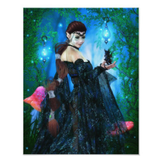 Lady of the Dragon Fae Canvas/Poster Print