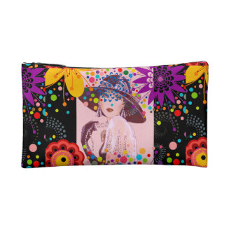 LADY OF THE EVENING COSMETIC/WRISTLET BAG