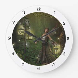 Lady of the Lanterns Wall Clock