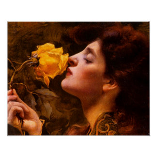 Lady of the Roses by Franz Dvorak Poster
