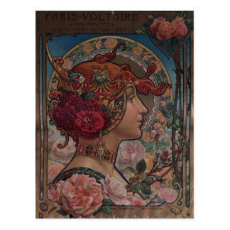 Lady of the roses postcard