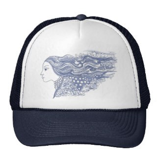 Lady of the Waves and Stars Mesh Hat