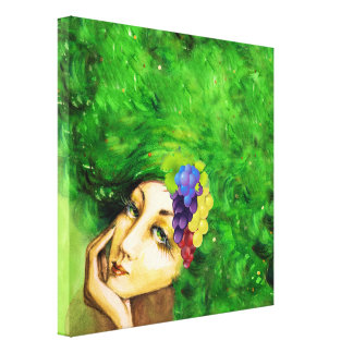 Lady of the Wine Harvest Canvas Art