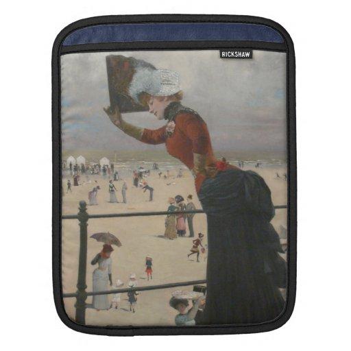 Lady on The Ground Change at Seaside - Skarbina iPad Sleeve