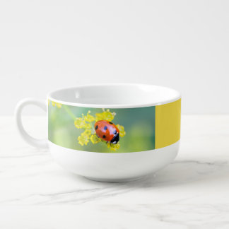 lady on top soup mug