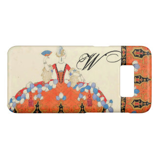 LADY ORANGE FASHION COSTUME DESIGNER MONOGRAM Case-Mate SAMSUNG GALAXY S8 CASE