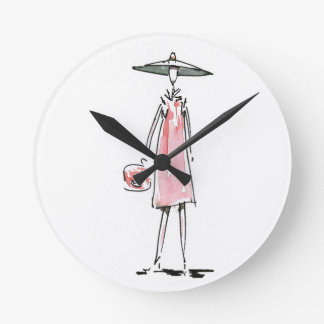 Lady out to Lunch Wall Clock
