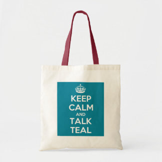 Lady Parts TV Keep Calm Talk Teal Tote Bag