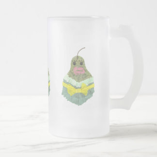 Lady Pear Frosted Jug Frosted Glass Beer Mug