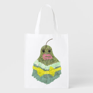 Lady Pear No Background Reusable Bag