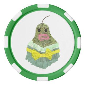 Lady Pear Poker Chips