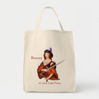 Lady Pirate Grocery Tote