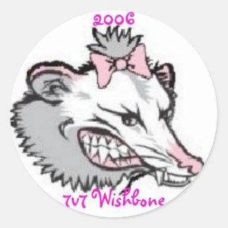 Lady Possum, 2006  7v7   Wishbone  Tournament Classic Round Sticker