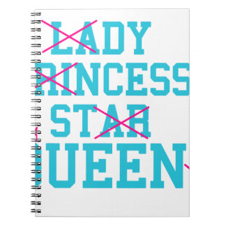 Lady princess star queen notebook