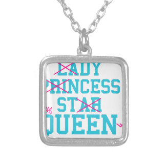 Lady princess star queen silver plated necklace