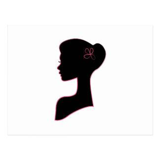 Lady Profile Postcard