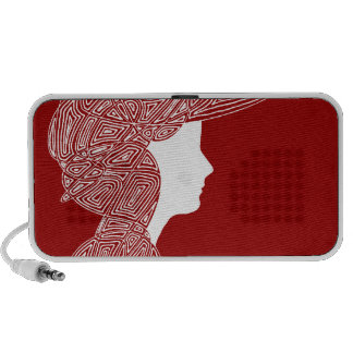 Lady Red iPod Speakers