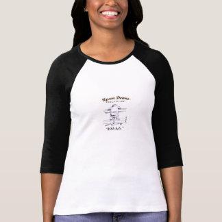 Lady's 3/4 sleeve Golf shirt, black & white T-shirts