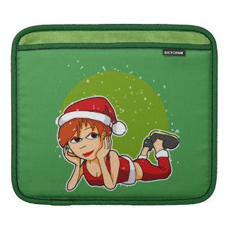 Lady Santa iPad Sleeve