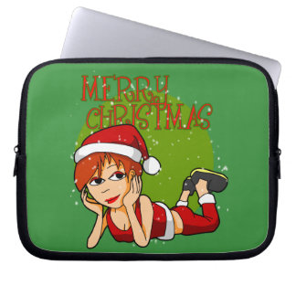Lady Santa Laptop Sleeve
