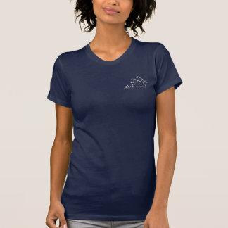 Lady Scuba Diver in Bubbles T-Shirt