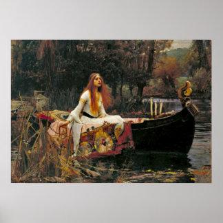 Lady Shalott 1888 Poster