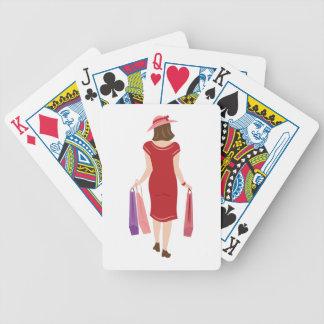 Lady Shopping Poker Deck