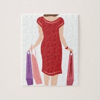 Lady Shopping Puzzle