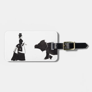 Lady Shops For A Monster Luggage Tag