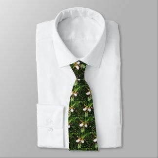 Lady Slipper Orchid Men's Tie